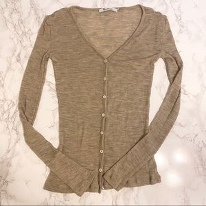 T by Alexander Wang Cardigan Beige Size Small